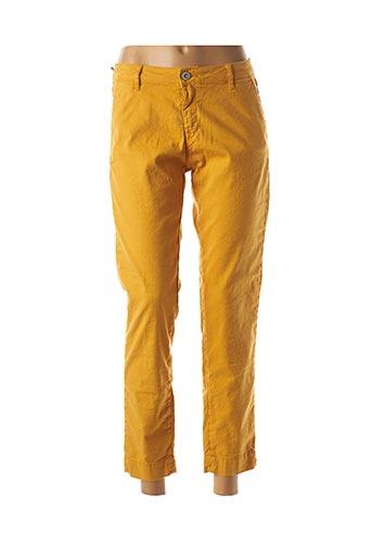 Pantalon 7/8 jaune DENIM STUDIO pour femme