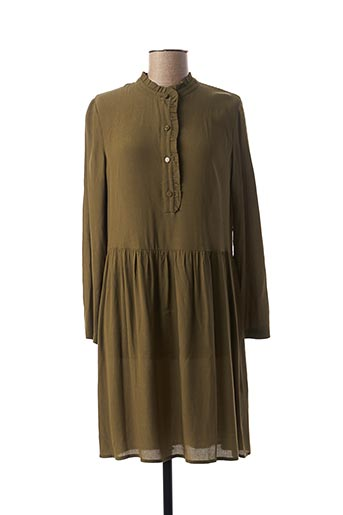 Robe mi-longue vert DES PETITS HAUTS pour femme