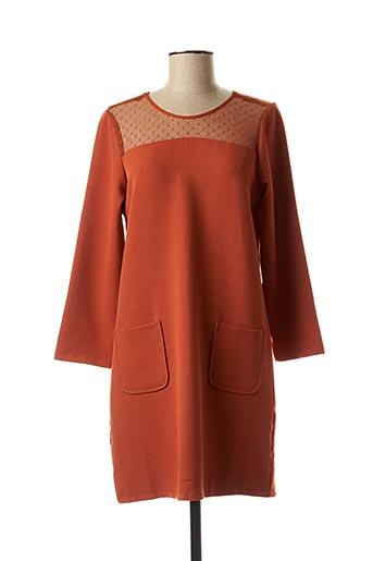 Robe courte orange AKOZ pour femme