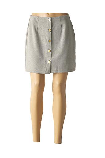 Jupe courte gris CERISE BLEU pour femme