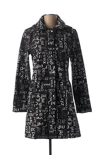 Manteau long noir DOLCEZZA pour femme