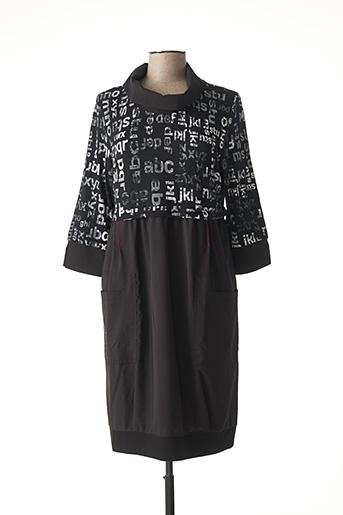 Robe mi-longue noir DOLCEZZA pour femme
