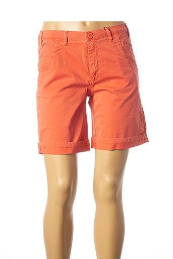 Bermuda orange EVA KAYAN pour femme