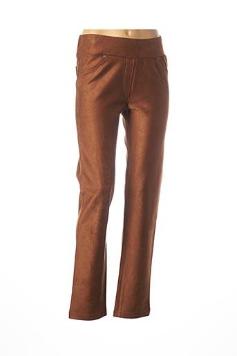 Pantalon casual beige DOLCEZZA pour femme
