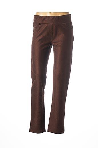 Pantalon casual marron DOLCEZZA pour femme
