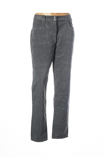Pantalon casual gris EAST DRIVE pour femme