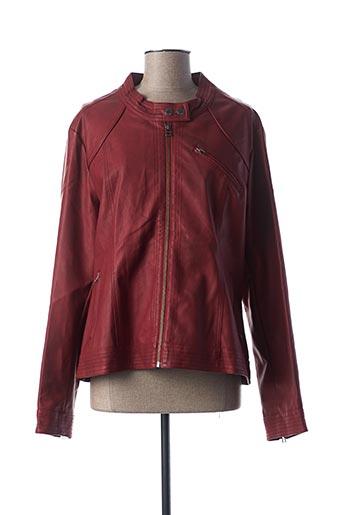 Veste simili cuir rouge FRED SABATIER pour femme