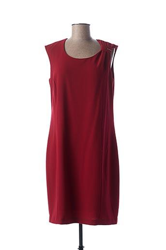 Robe mi-longue rouge GUY DUBOUIS pour femme