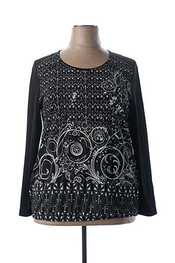 T-shirt manches longues noir BAGORAZ pour femme