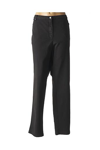 Pantalon casual noir BRANDTEX pour femme