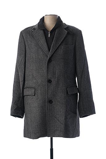 Manteau long gris PETER COFOX pour homme