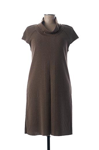 Robe pull marron DANEVA pour femme