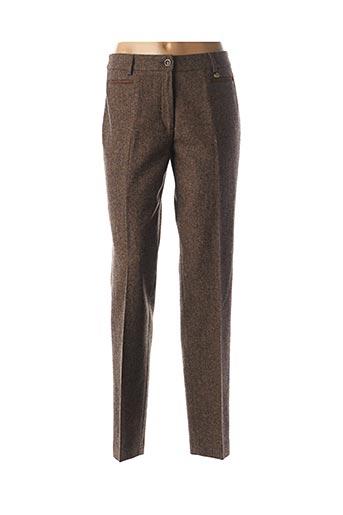 Pantalon casual marron SAINT HILAIRE pour femme