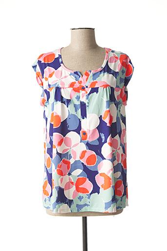 T-shirt manches courtes bleu BAGORAZ pour femme