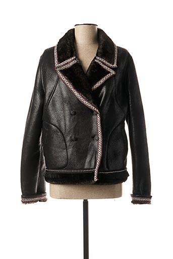 Manteau court noir POUPEE CHIC pour femme