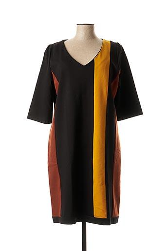 Robe mi-longue noir AN II VITO pour femme