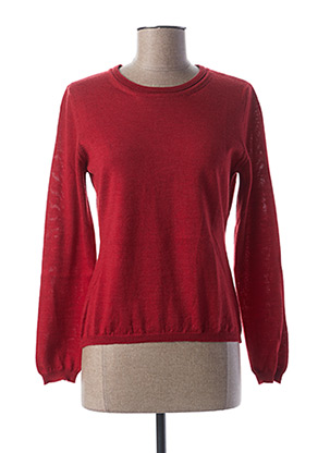 Pull col rond rouge WEINBERG pour femme