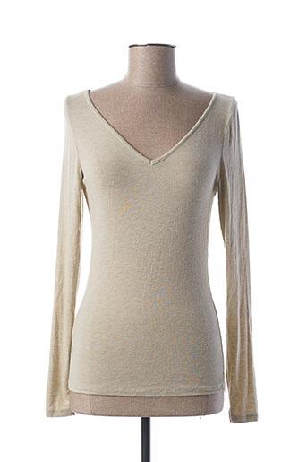T-shirt manches longues beige PAKO LITTO pour femme