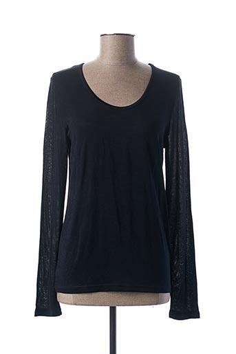 T-shirt manches longues bleu PAUL BRIAL pour femme