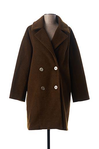 Manteau long vert MOLLY BRACKEN pour femme
