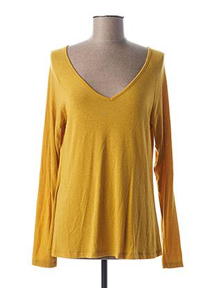 T-shirt manches longues jaune PAKO LITTO pour femme