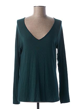 T-shirt manches longues vert PAKO LITTO pour femme