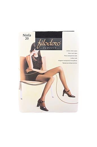 Collants noir FILODORO pour femme