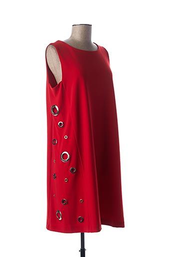 Robe mi-longue rouge JOSEPH RIBKOFF pour femme