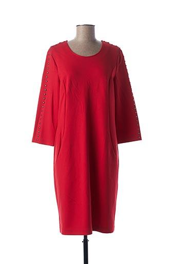 Robe mi-longue rouge RABE pour femme