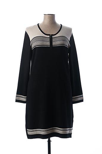 Robe pull noir CHRISTINE LAURE pour femme