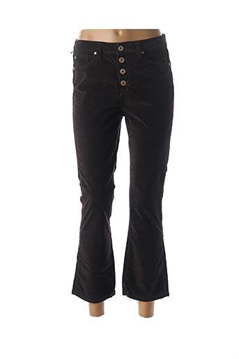 Pantalon 7/8 marron DENIM STUDIO pour femme