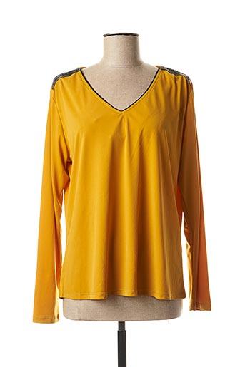T-shirt manches longues jaune DANIELA COOL pour femme