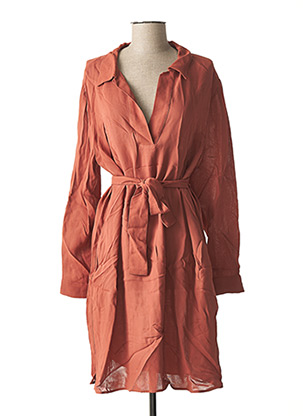 Robe mi-longue marron YAYA pour femme