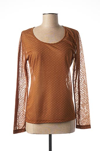 T-shirt manches longues marron LE PETIT BAIGNEUR pour femme