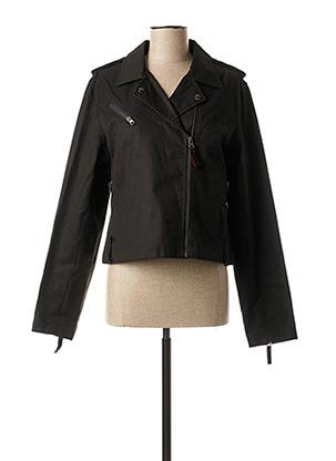 Veste en jean noir TEDDY SMITH pour femme