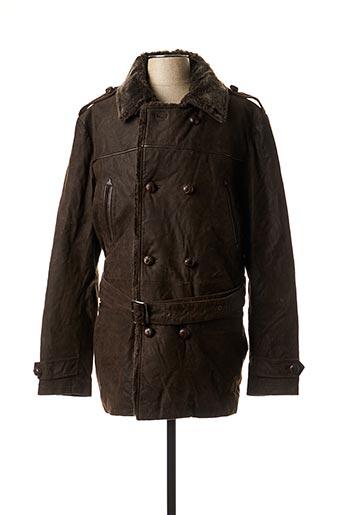 Manteau long marron OAKWOOD pour homme
