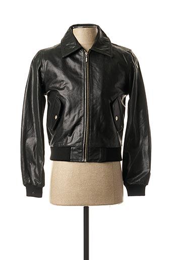 Veste en cuir noir ALFRED NONO pour homme