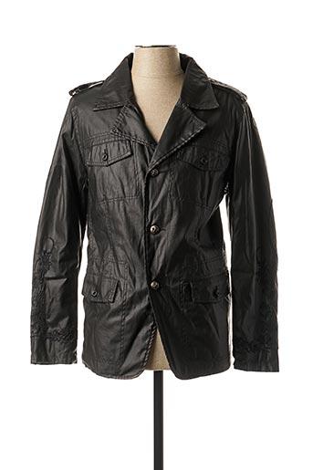 Veste simili cuir noir KAPORAL pour homme