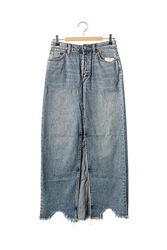 Jupe longue bleu FREE PEOPLE pour femme