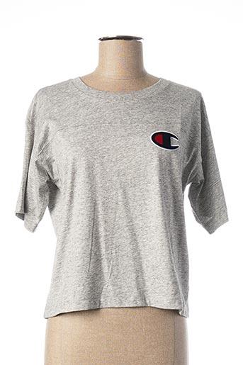 T-shirt manches courtes gris CHAMPION pour femme