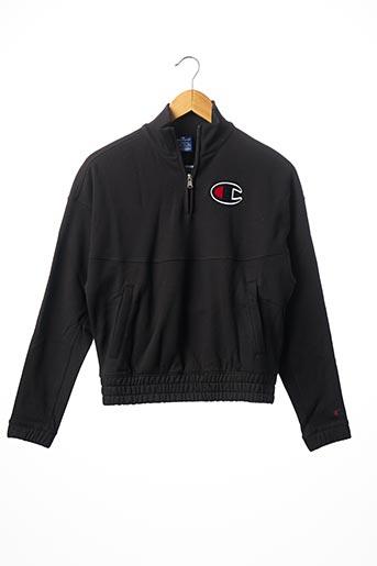 Sweat-shirt noir CHAMPION pour homme