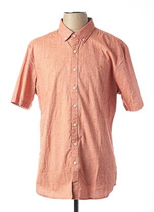 Chemise manches courtes orange FARAH VINTAGE pour homme