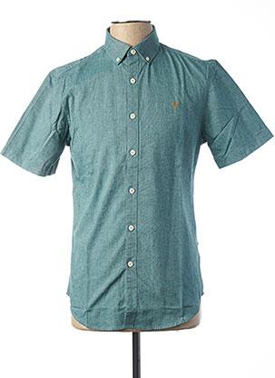 Chemise manches courtes vert FARAH VINTAGE pour homme