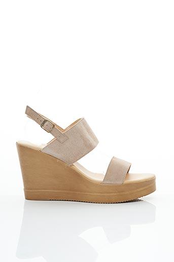 Sandales/Nu pieds beige BLUEGENEX pour femme