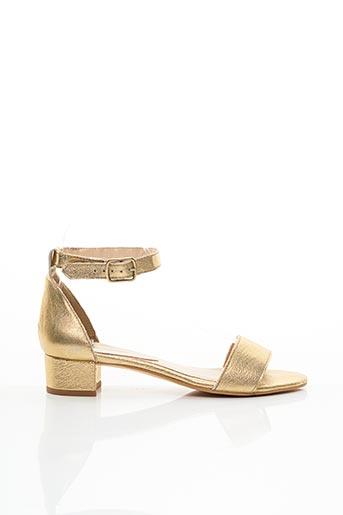 Sandales/Nu pieds jaune BLUEGENEX pour femme