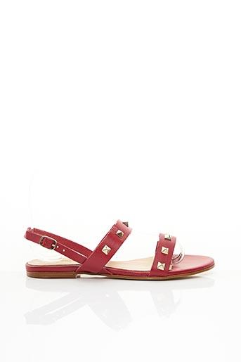 Sandales/Nu pieds rouge BLUEGENEX pour femme