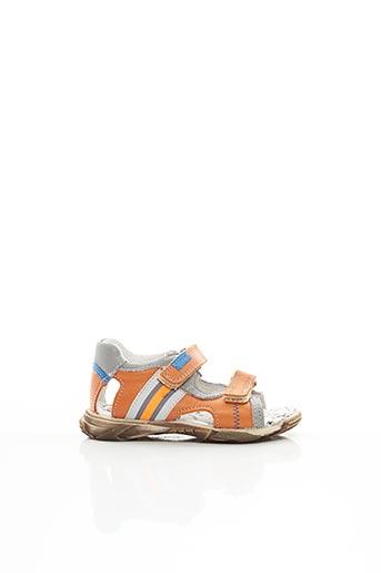 Sandales/Nu pieds orange BOPY pour garçon