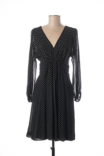 Robe mi-longue noir TEENFLO pour femme