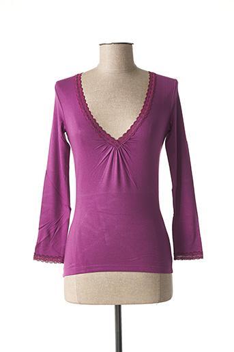 T-shirt manches longues rose TEENFLO pour femme