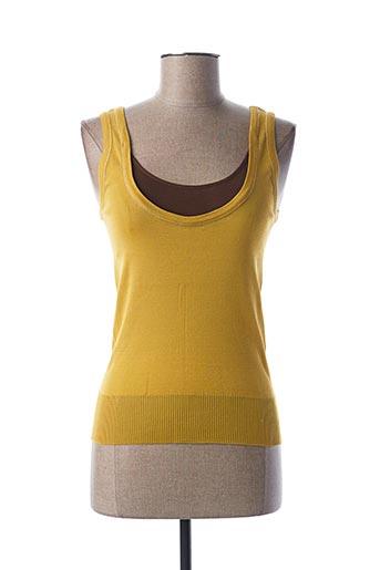 Débardeur jaune STEFAN GREEN pour femme